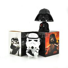 "2pcs 10cm/4"" Star Wars Bobble Head Darth Vader & Storm Trooper Action Figure"