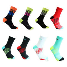 Men Women Unisex Stripe Fashion Sport Cycle Socks Mid Calf Breathable Sport Bike