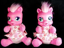 "2 Hasbro My Little Pony CHEERILEE Talking SO SOFT NEWBORN 9"" Plush 2008 Dolls"