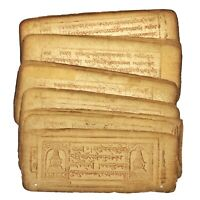 1600-1700's Mongolian Manuscript Woodblock Printed Authentic Asian 21 Leafs