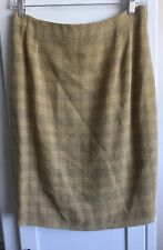 Fendi 10 Womens Mustard Yellow Pencil Skirt FLAW