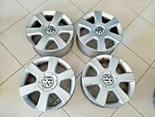4 Cerchi CERCHIO in lega VW VOLKSWAGEN Golf 5 V 205/55 R 16 ORIGINALI CON GRAFFI