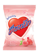 Heartbeat Lychee SWEET & SOUR Flavor Candy Tropical Thai Fruit Party 100pcs