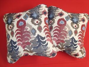 """NEW 2 pc PILLOWS MOD TAPESTRY Handmade COMPLETED 20"""" Finished w/ FORMS"""