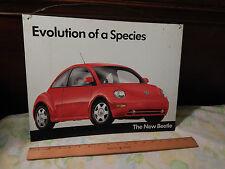 "Volkswagen [2000] New BEETLE Promotional (METAL SIGN) ""Evolution of a Species"""