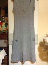 METALICUS 100% Grey Wool Dress, Sleeveless Pockets Small Size 8 10 12