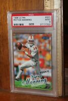 1998 Ultra Peyton Manning #201 Graded Football Card PSA 9 Mint