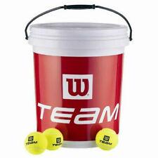 Wilson Team W Trainer 72 Tennis Ball Bucket Yellow 6 WRT13 1200