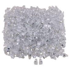 500pcs Transparent Plastic Furniture Cupboard Shelf Support 5mm Pins