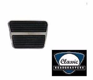 GM Chevy Pontiac ** Clutch or Brake **  Pedal Pad W/ Stainless Steel Trim