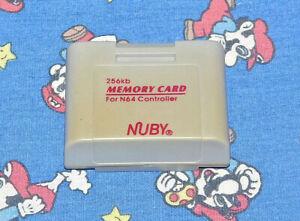 256KB N64 Controller Memory Card Nintendo Nuby Brand Tested