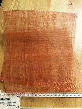 Sinamay Fabric remnants burnt orange (some holes) 45cm wide
