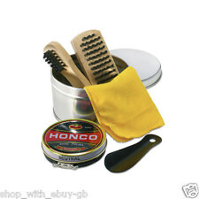 Shoe shine Kit-voyage polonais Soins polissage nettoyage Set-boot brosse neutre