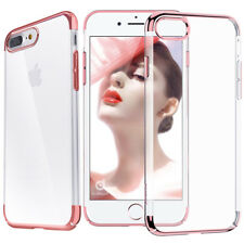 For iPhone XS Max XR X 7 8 Plus Electroplate Metal Bumper Case+Tempered Glass