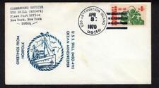 USS Skill MSO 471 April 3 1970 USS Observation Island AG 154 Pmk