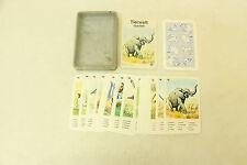 ESF-01234Kartenspiel Tierwelt Quartett von Schmid, mit Gebrauchsspuren