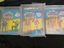 Vintage Kenner Super Powers 33 Back GREEN ARROW , PLASTIC MAN  & SHAZAM! AFA 85