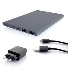 Slim Power Bank 37000mWh External Charger USB 1A 2.1A Li-Poly Graphite PowerNeed