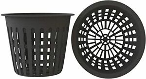 10 Pack, 3 Inch Net Cups, Slotted Mesh Wide Lip Net Pots for Hydroponics Garden