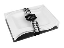 Lifestyle Wave Shape Tray 2-piece Set (White)