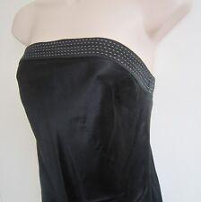 NWOT Express Studio Design Black Shiny Silk Strapless Tunic Top ~ Size XS