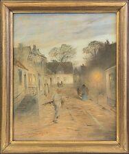VALFRID NELSON (1849–1930) »DORFSTRASSE AM ABEND« 1904