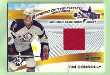 TIM CONNOLLY 01-02 BOWMAN YOUNG STARS FABRIC OF THE FUTURE GAME WORN JERSEY