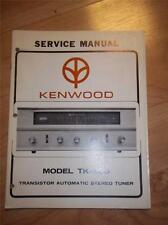 Kenwood Service Manual~TK-500 Amplifier/Amp~Original Manual