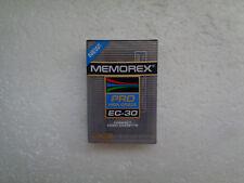 Cassette Vierge pour Camescope VHS-C MEMOREX Pro EC-30 - VHS C Neuf
