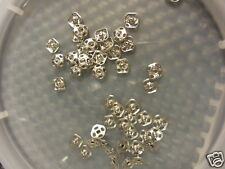 24 SETS Sewing Silver Square Snaps to use on Vintage Doll Clothes, etc 6mm Small
