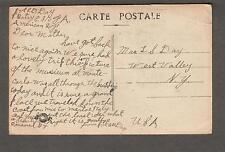 WWI AEF Monte Carlo pc censor Pvt E D Day battery E 310 FA to West Valley NY