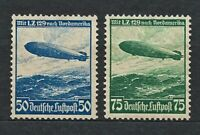 DR Nazi WWII Germany Rare WW2 Stamps Airmail LZ 129 Zeppelin over North America