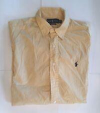 Ralph Lauren Polo Mens Dress Shirt Size 16 1/2 Yellow Work Casual Button Front