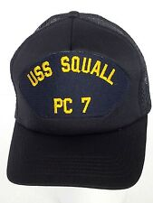 USS Squall PC-7 US Navy Military Ball Cap Hat Vintage