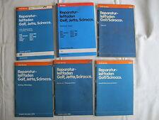 Golf 1+Scirocco+GTI Reparaturanleitung Motor Mechanik DX+EG+JH+JJ+KT+2H 6-Bücher