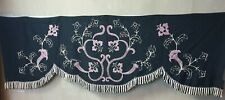 Antique Embroidered Hearse Window Curtain Flower Pattern