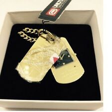 NEW-MARC ECKO GOLD TONE RHINO CRYSTAL DOGTAG MACDADDY MEN'S WATCH- E11510G2