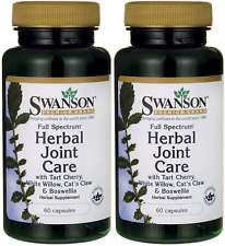 #1 BEST - HERBAL JOINT CARE BOSWELLIA WHITE WILLOW CAT'S CLAW SUPPLEMENT 120 CAP