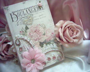 Shabby Victorian Chic Decorative Table Book #2~French Inspired Theme~PINK~Jewels
