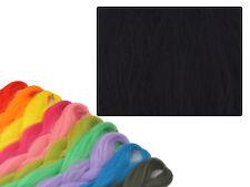 CYBERLOXSHOP PHANTASIA KANEKALON JUMBO BRAID JET BLACK HAIR DREADS