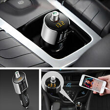 Car Bluetooth FM Transmitter Wireless Radio Adapter 2USB Charger MP3 Player Kit