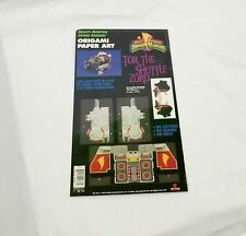 Vintage 1994 Power Rangers Tor The Shuttle Lord Origami Paper Art