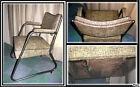 Deco design indus vintage Beau fauteuil de bureau année 60 métal et simili @