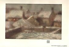 1903 STUDIO PRINT ~ SNOW SCENE EVENING by LE SIDANER