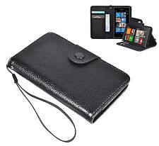 PU Leather Flip Wallet Cover Case with Card & Cash Slots for Nokia Lumia 920