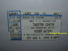 ROGER WATERS 1999 Concert Ticket Stub GREAT WOODS TWEETER Pink Floyd VERY RARE
