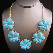 NEW Urban Anthropologie Blue Star Flower Gold Chain Necklace