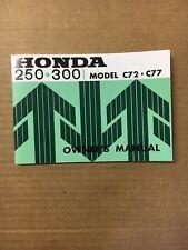 HONDA CA77,CA72 Honda Dream Touring Owner's Manual
