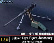 ZYTOYS 1/6 Scale US ARMY M2 Machine Gun Figure Accessories Toy Weapon Model Toy
