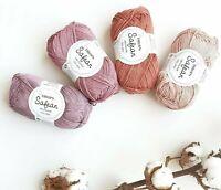 100% Egyptian cotton, sport weight yarn, soft cotton for summer, Drops SAFRAN